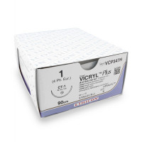 Hechtdraad Vicryl Plus (VCP347H, 1, 90cm, CT-1 naald) 36 stuks | Ethicon