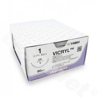 hechtdraad Vicryl Plus (1, 90cm, CP, V486H) 36 stuks | Ethicon